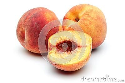 Pfirsich zwei und halber Pfirsich