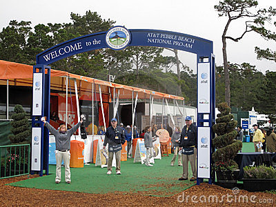 PGA Pebble beach entrance Editorial Stock Photo
