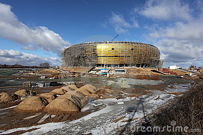 PGE Arena, stadium in Gdansk, Poland Editorial Photography