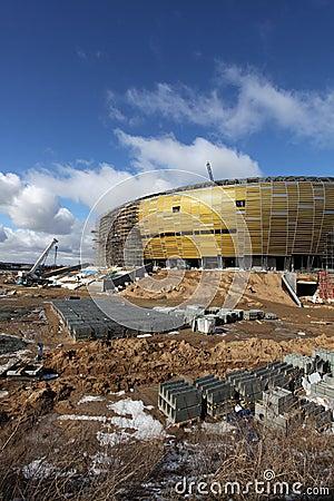 PGE Arena, stadium in Gdansk, Poland Editorial Stock Image