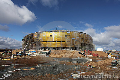 PGE Arena, stadium in Gdansk, Poland Editorial Image