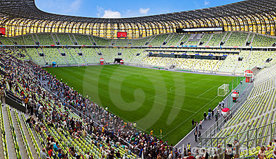PGE Arena, stadium in Gdansk, Poland Editorial Image