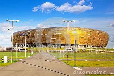 PGE Arena stadium in Gdansk, Poland Editorial Photo