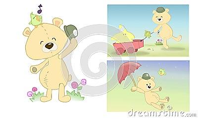 Página enchida do urso