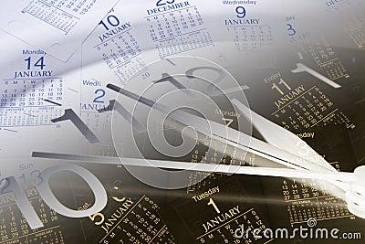 Páginas do pulso de disparo e do calendário
