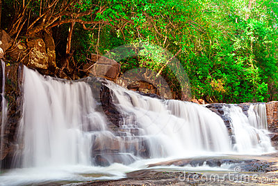 Pha Eiang, paradise Waterfall located in deep fore