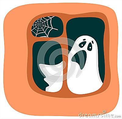 Phantom in einem Fenster