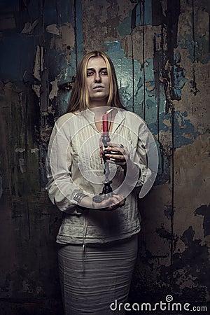 Phantom girl with candle