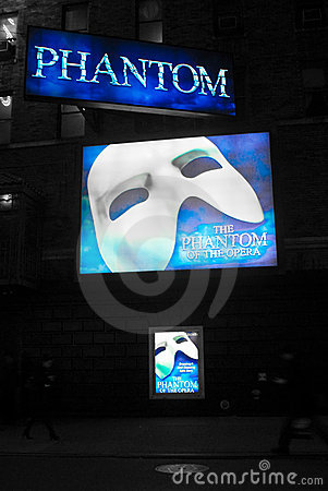 Phantom of the Opera billboards Editorial Stock Photo