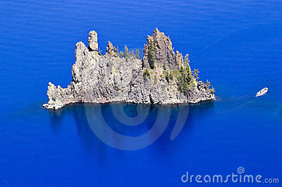 Phantom Ship Island Blue Crater Lake Oregon