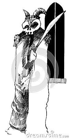 Phantom with skull and sword