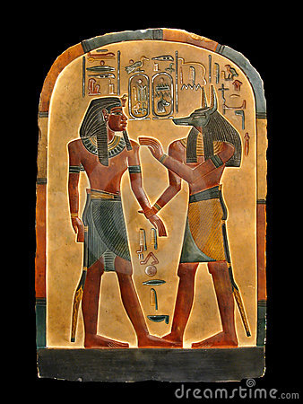 Free Pharaoh And Anubis. Egyptian Palette. Stock Images - 13102654