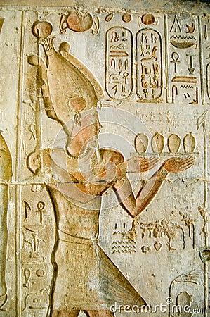 Pharaoh Ptolemy IV at Deir el Medina