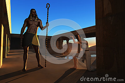 Pharaoh and slave girl