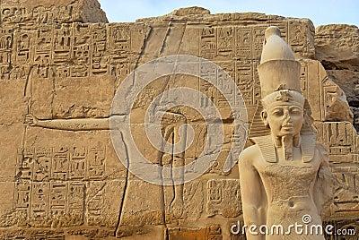 Pharaoh statue in Karnak