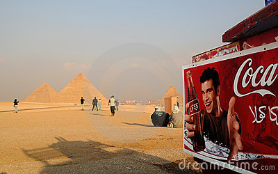 Is the Pharaoh thirsty? Editorial Stock Image