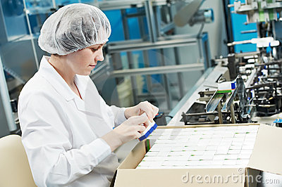 Pharmaceutical factory worker