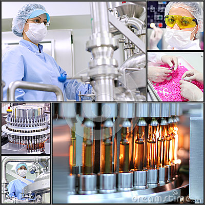 Free Pharmaceutical Manufacturing Technology- Collage Stock Photo - 46813800