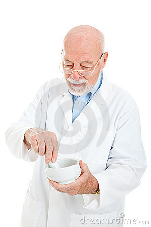 Pharmacist Mixing Medicine