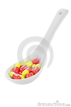 Pharmacy. Antibiotic pills