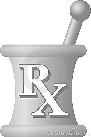 Traditional symbol of pharmacy science, a mortar and pestle with the ... Nursing Symbol Design