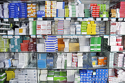 Pharmacy shop interior Editorial Photography