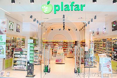 Pharmacy shop - plafar Editorial Stock Image