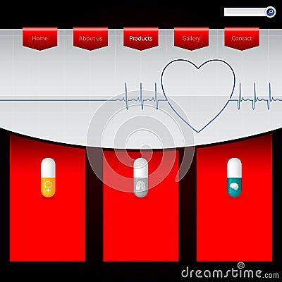 Pharmacy website template design