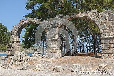 Phaselis Aqueduct Ruins, Turkey