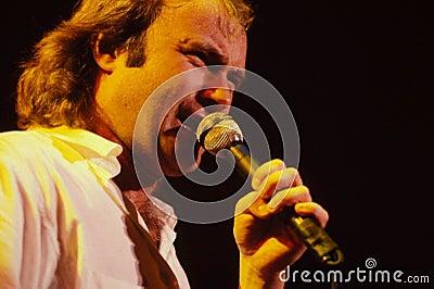 Эстрадный артист Phil Collins Редакционное Стоковое Фото