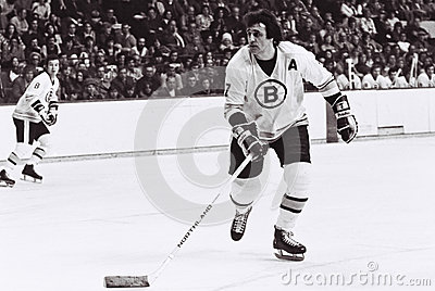Phil Esposito Boston Bruins Imagem Editorial