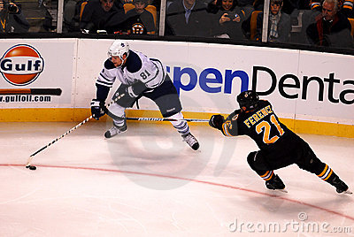 Phil Kessel and Andrew Ference Editorial Stock Image