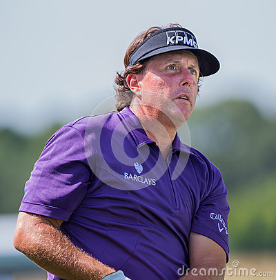 Phil Mickelson ar the 2012 Barclays Editorial Photography