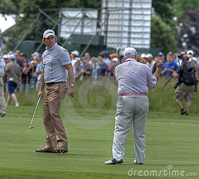 Phil Mickelson with his instructor Editorial Photo