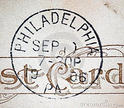 Philadelphia 1906 American Postmark