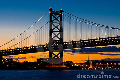 Philadelphia bij Zonsondergang