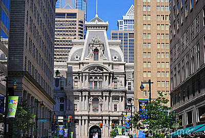 Philadelphia City Hall Editorial Stock Image