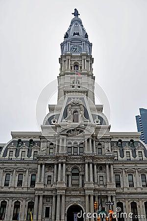 Philadelphia City Hall Editorial Photo