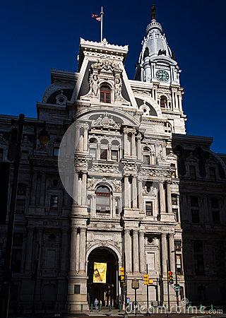 Philadelphia City Hall Editorial Stock Photo