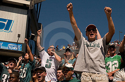 Philadelphia Eagle fans Editorial Photography