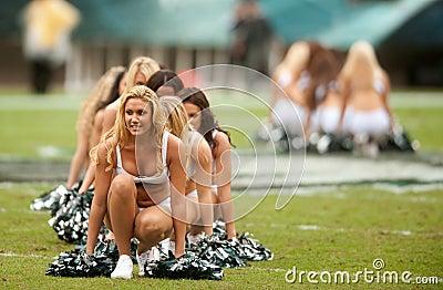 Philadelphia Eagles cheerleaders Editorial Stock Photo