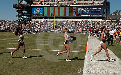 Philadelphia Eagles cheerleaders Editorial Stock Image