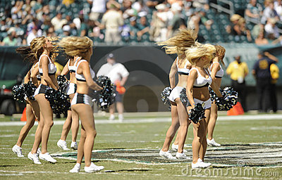 Philadelphia Eagles cheerleaders Editorial Image