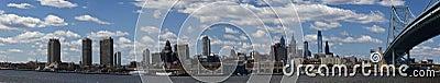 Philadelphia (panoramic) Editorial Stock Image