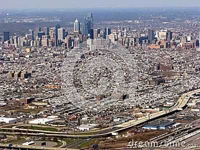 Philadelphia Pennsylvania Cityscape Aerial View