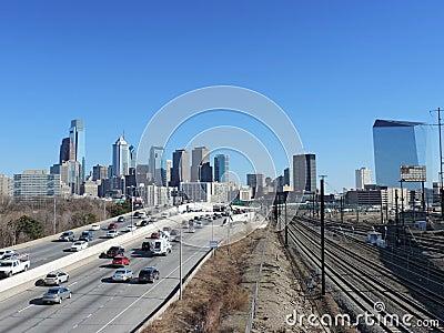 Philadelphia Skyline Editorial Photography