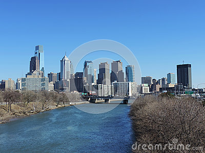 Philadelphia Skyline Editorial Stock Image