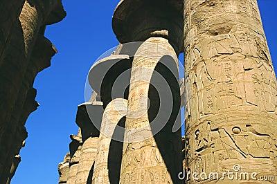 Philae寺庙colums