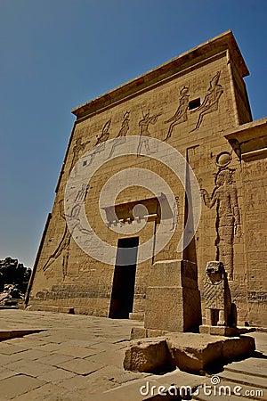Philae island hieroglyphs - Egypt