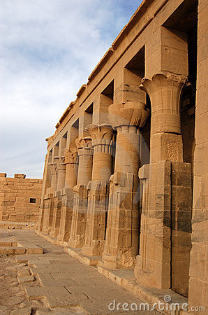 Philae pillars